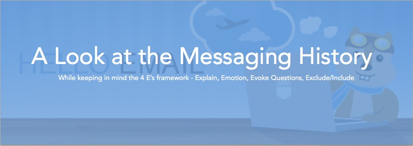 A look at the messaging history