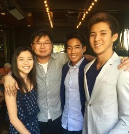 Photo with my niece and nephews
